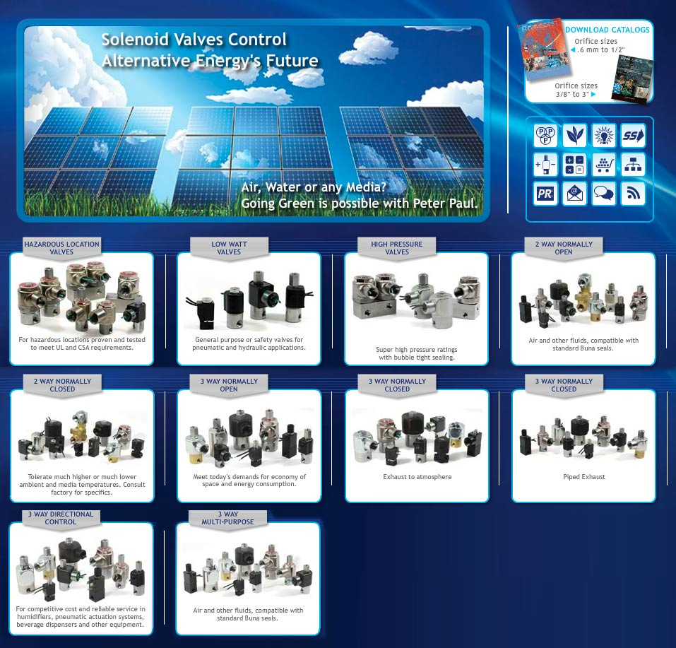 Solenoid Valves by Peter Paul Electronics