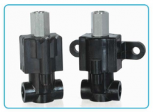 All Plastic 3-Way Normally Closed Valve Piped Exhaust